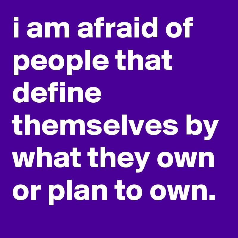 am i afraid of people