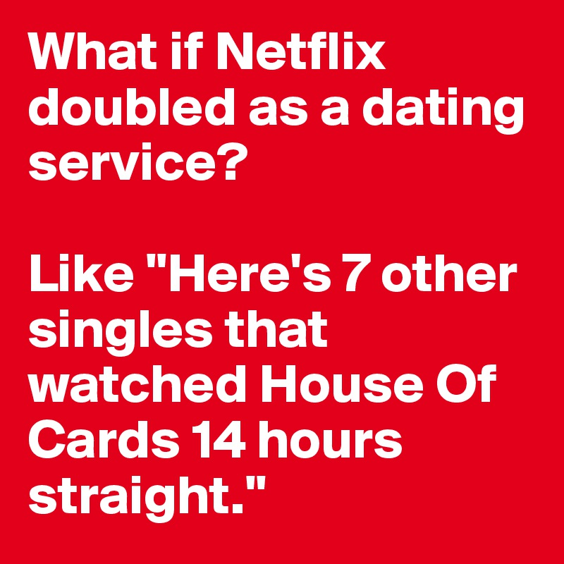 A dating service