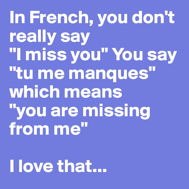 How to say i love you more in french
