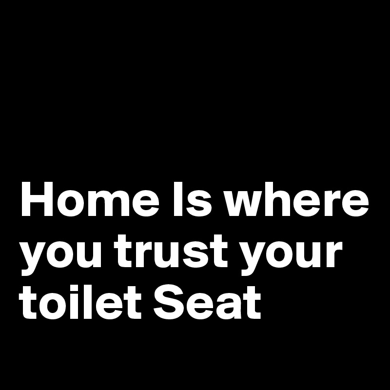Home Is where you trust your toilet Seat