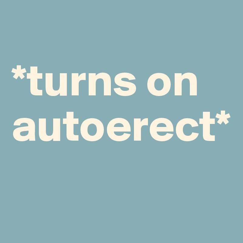 *turns on autoerect*