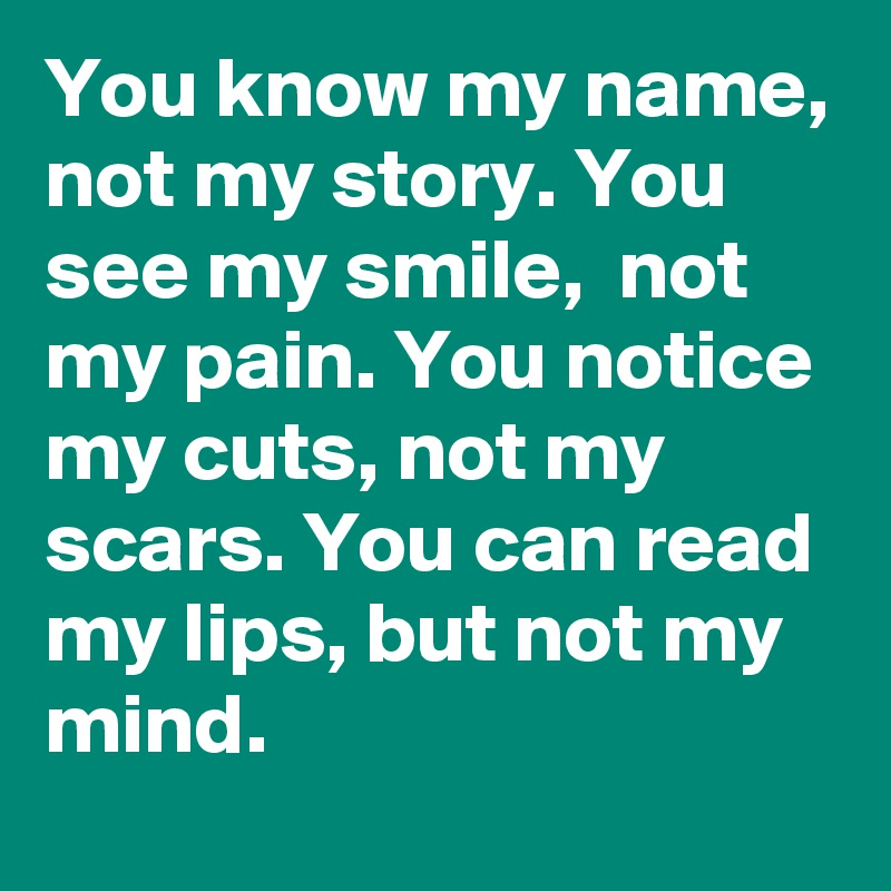 Will you read my story?