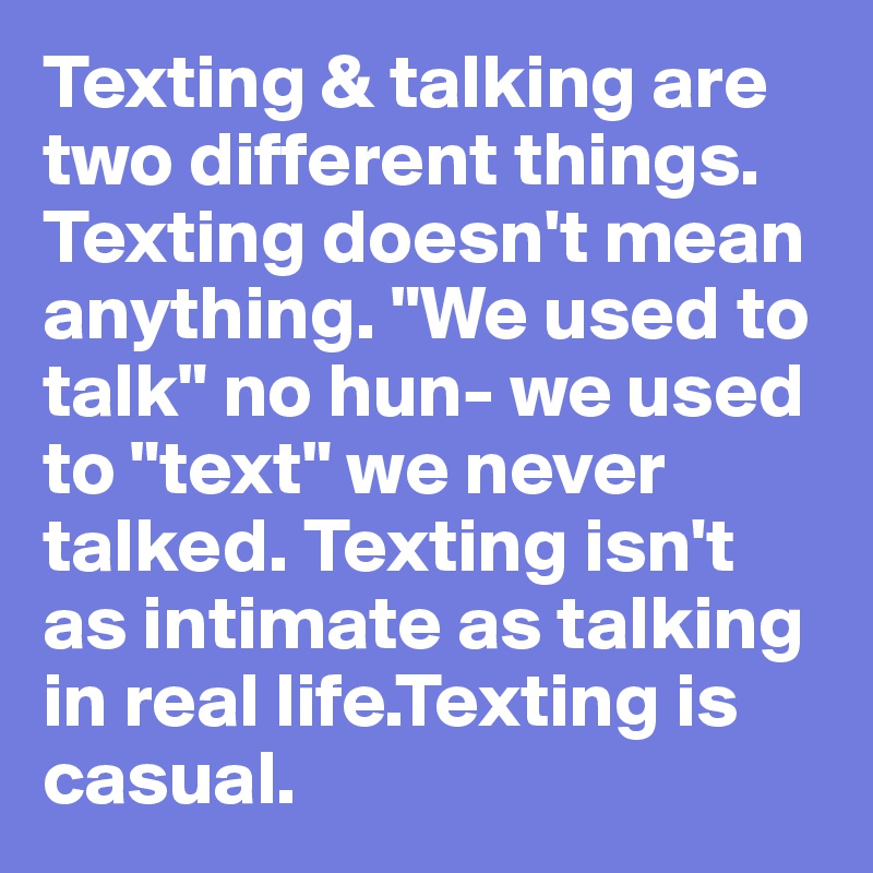 Things to talk about when texting