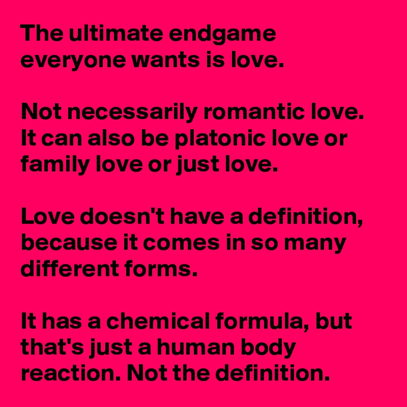 What is platonic love definition