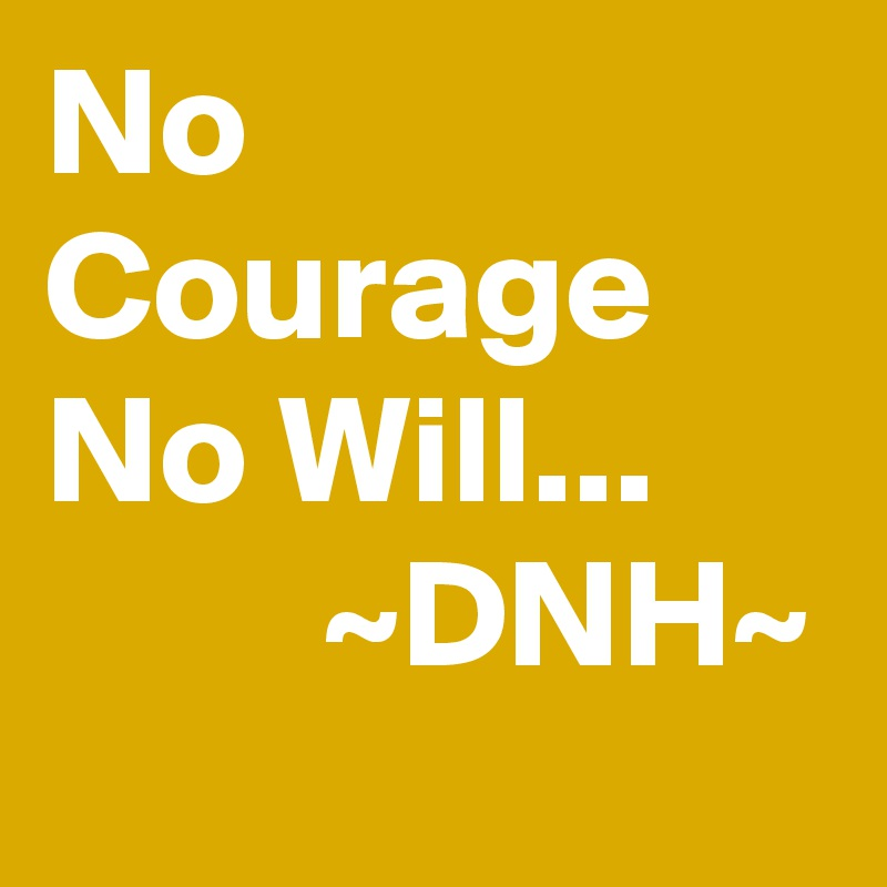 No Courage No Will...               ~DNH~