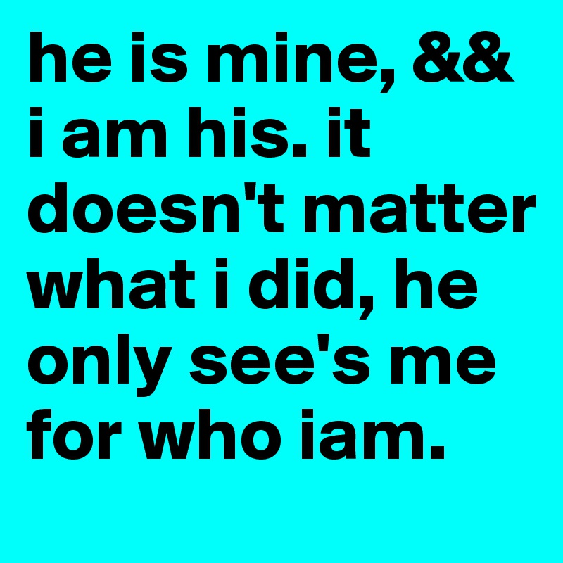 It doesn t matter who i am