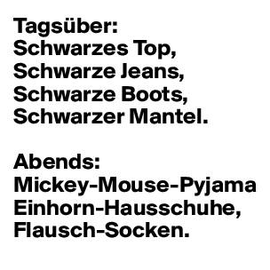 promo code 3be1a f5951 Tagsüber: Schwarzes Top, Schwarze Jeans, Schwarze Boots ...