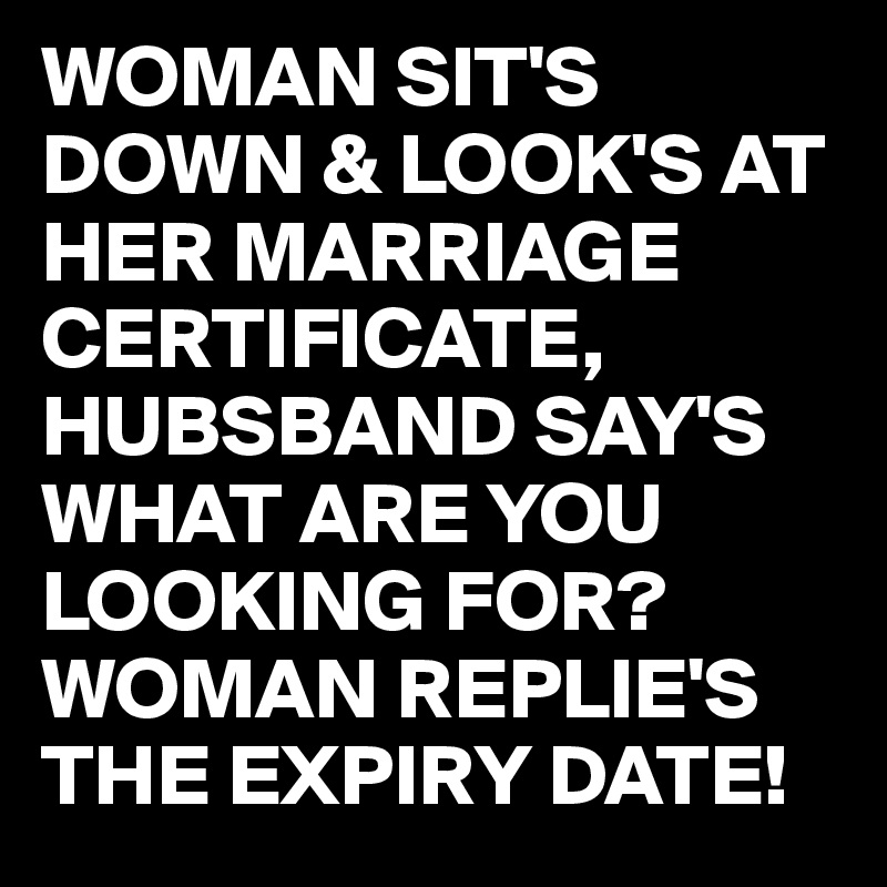 looking for marriage certificate