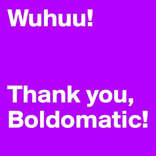 Wuhuu!   Thank you, Boldomatic!