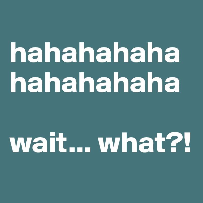 hahahahaha hahahahaha  wait... what?!