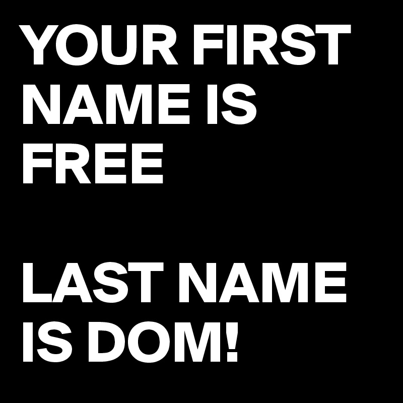 names for your dom