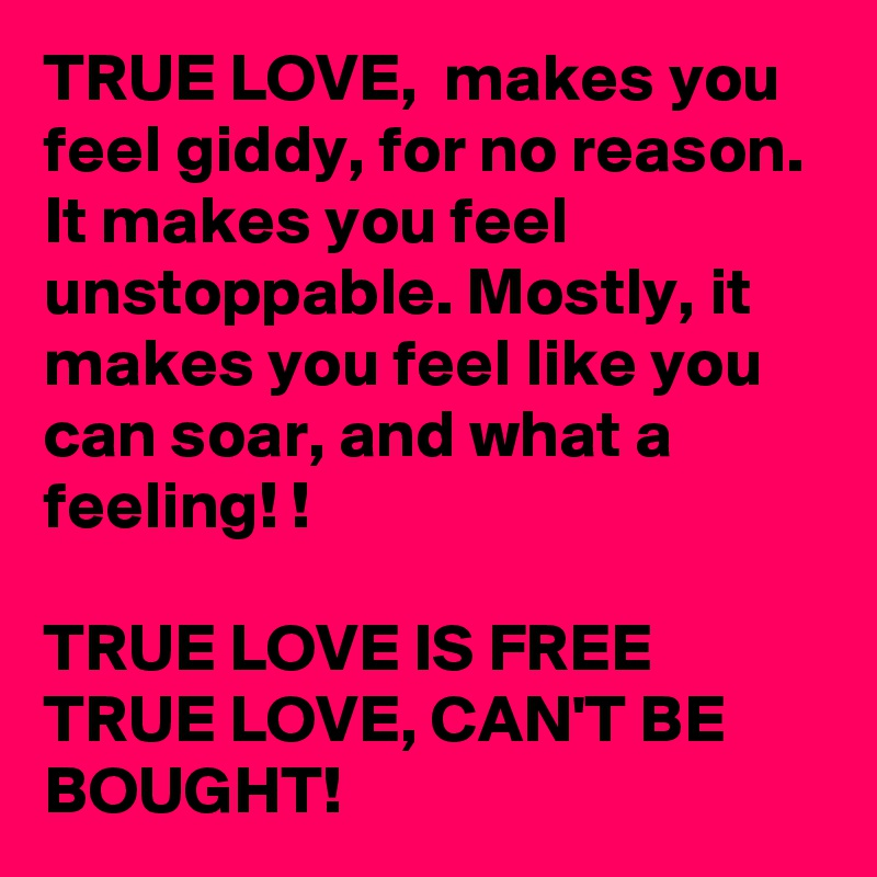 The feeling of true love