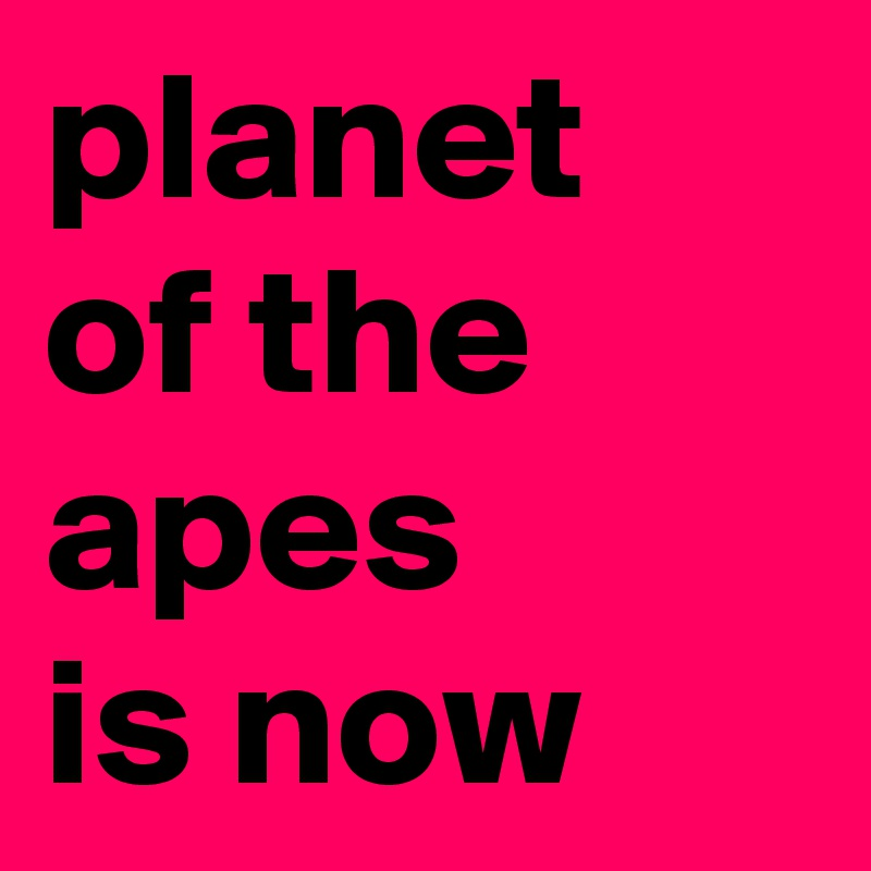 planet of the apes is now