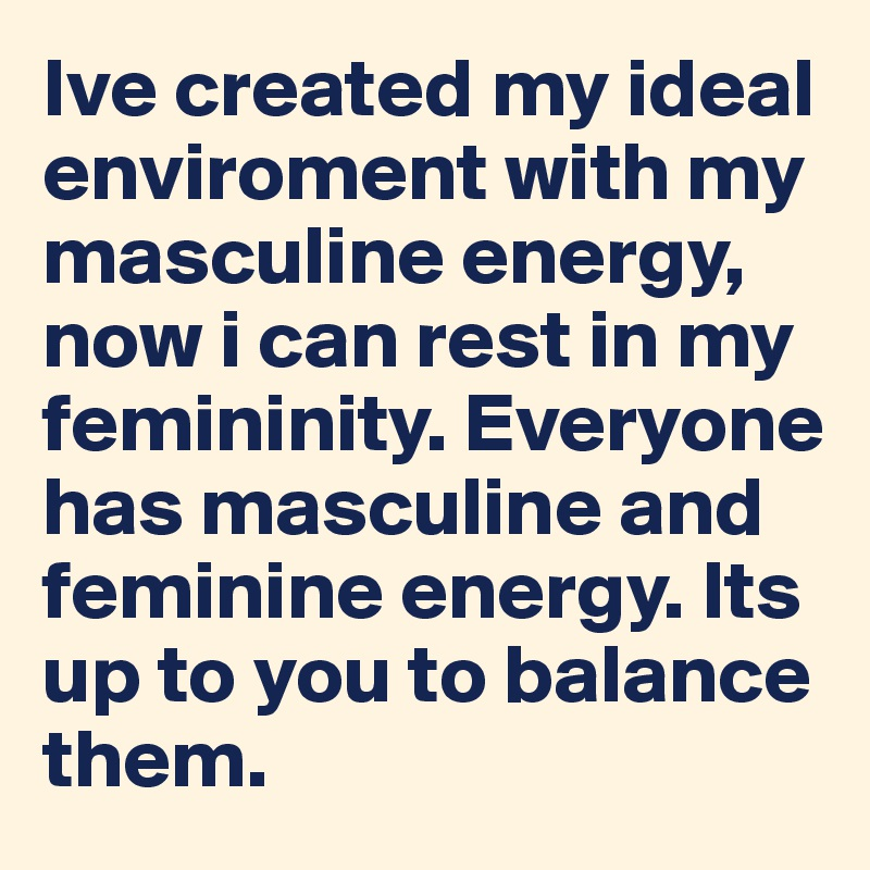 What is masculine energy