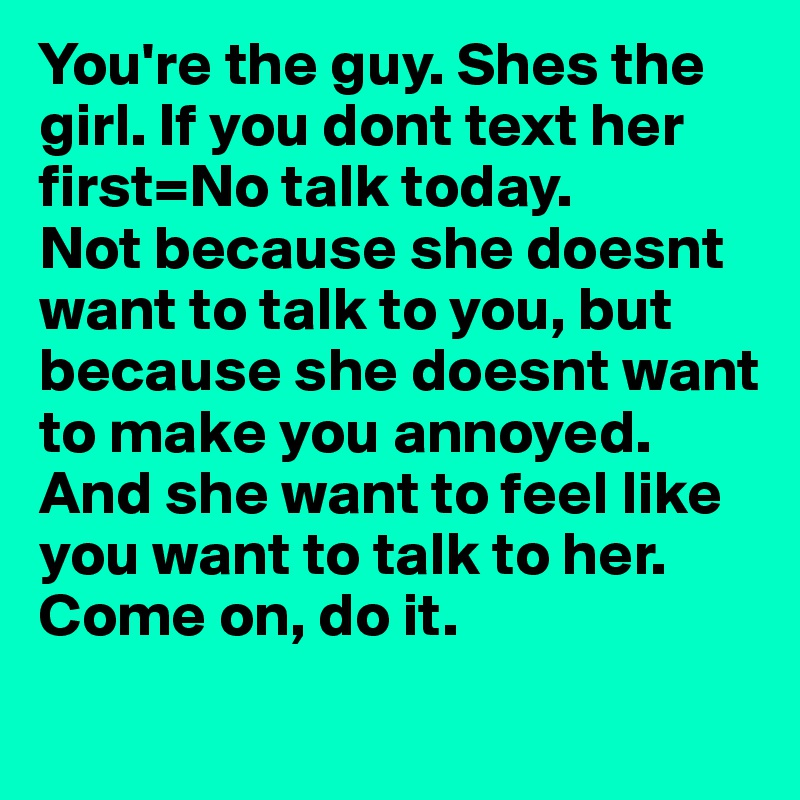 Text to make a guy want you