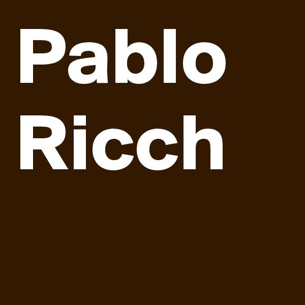 Pablo Ricch