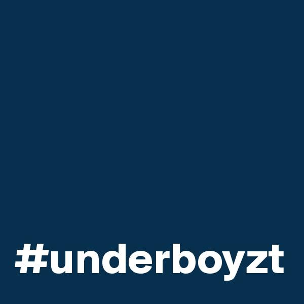 #underboyzt