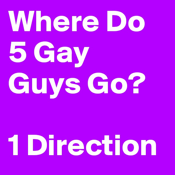 Where Do 5 Gay Guys Go?   1 Direction