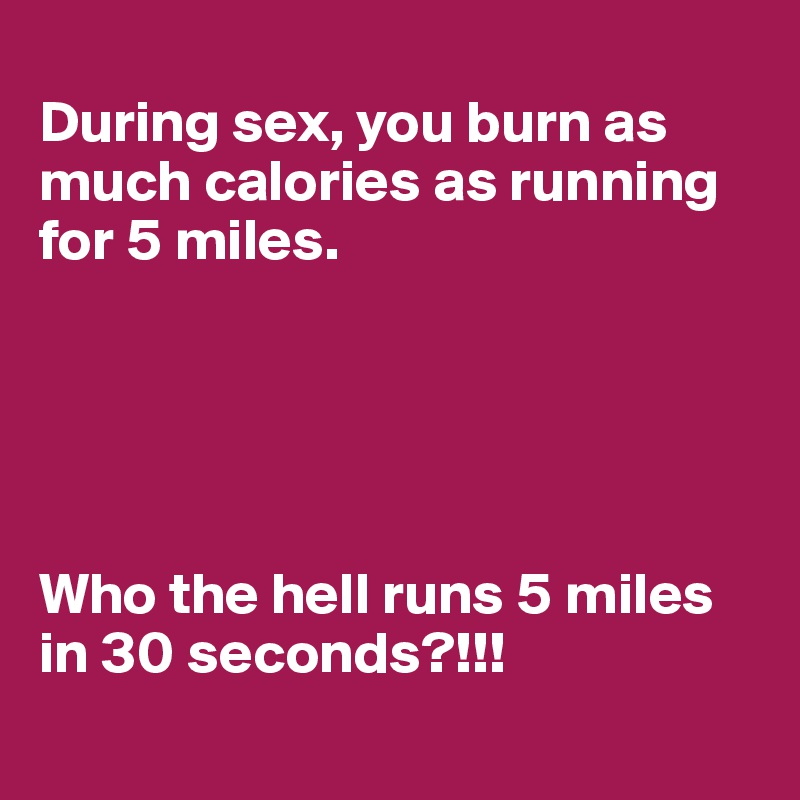 How many calories you lose during sex
