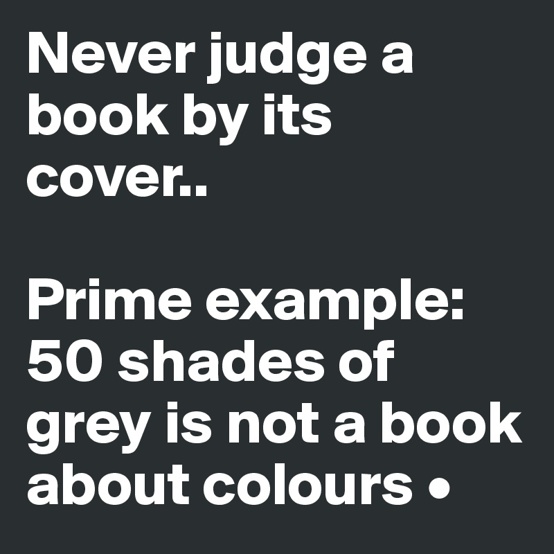never judge a book by its cover essay