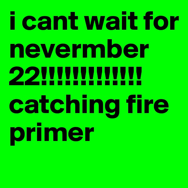 i cant wait for nevermber 22!!!!!!!!!!!!! catching fire primer