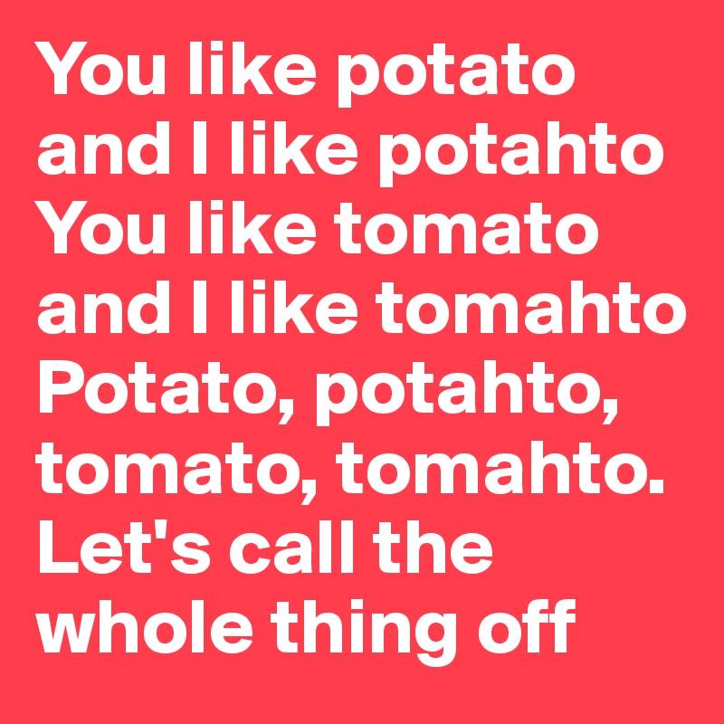 Tomato Tomahto Wooden Spoons Set of 2 Potato Potahto