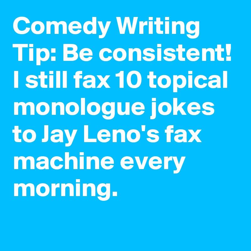how to write monologue jokes