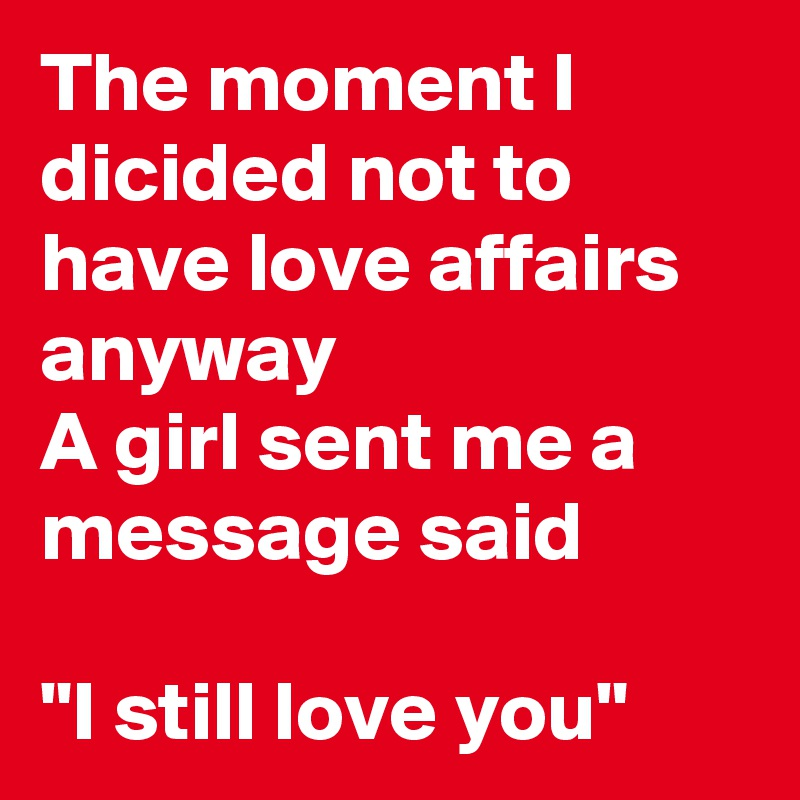 Affairs love