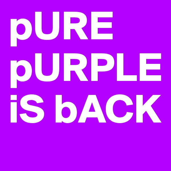 pURE pURPLE iS bACK