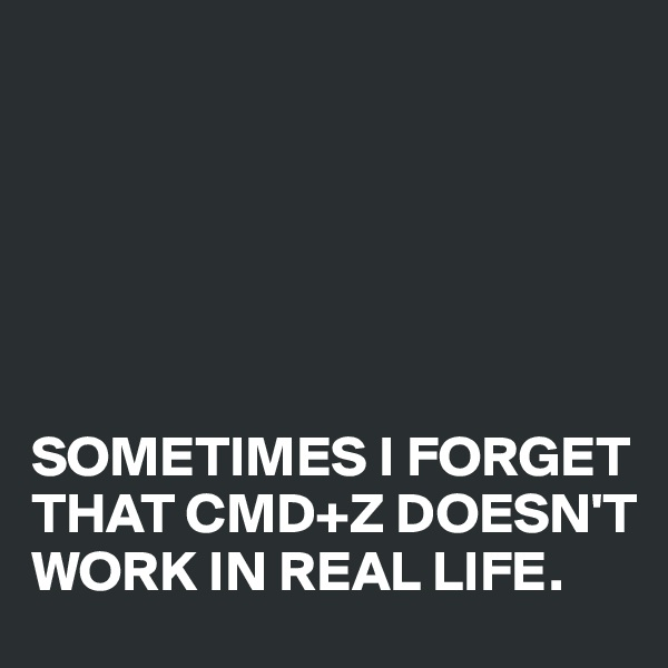 SOMETIMES I FORGET THAT CMD+Z DOESN'T WORK IN REAL LIFE.
