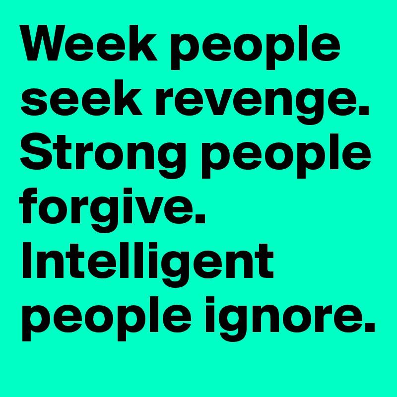 Why do people seek revenge