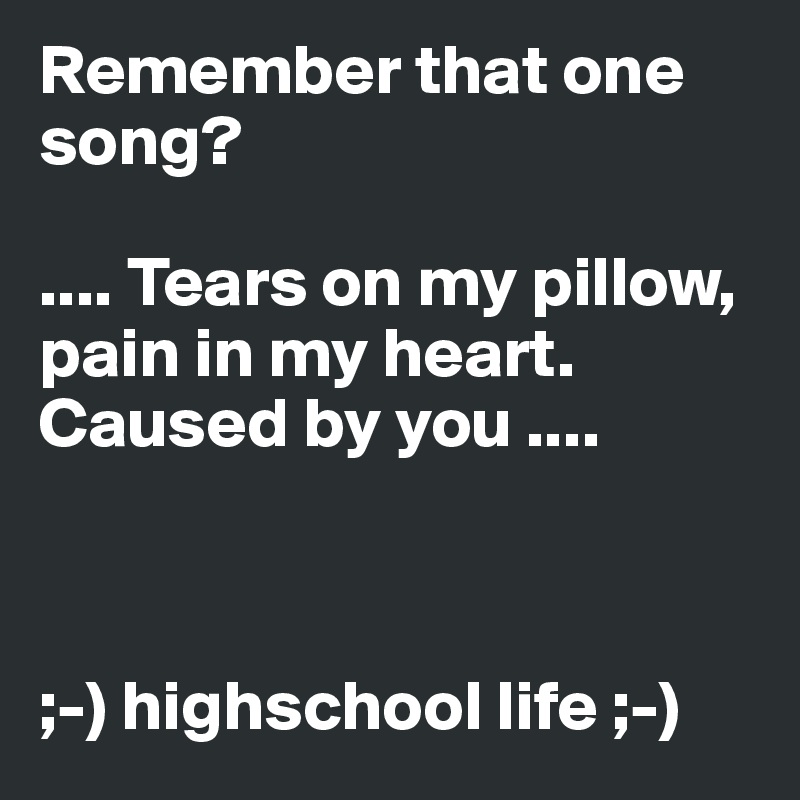 Pain in my heart song