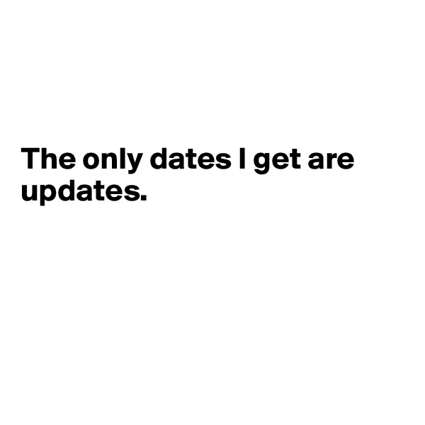 The only dates I get are updates.