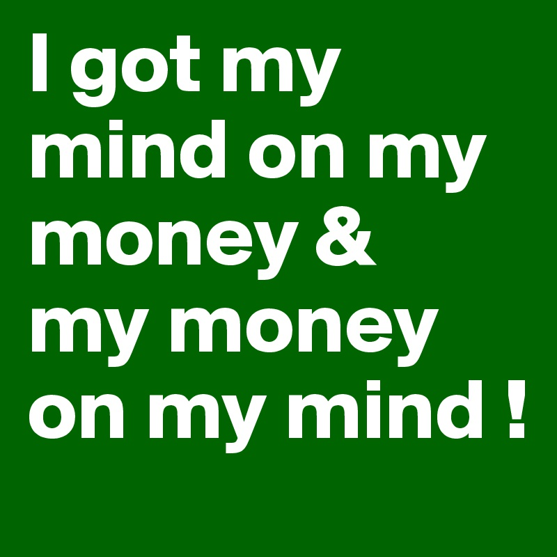 Money Mind Poster