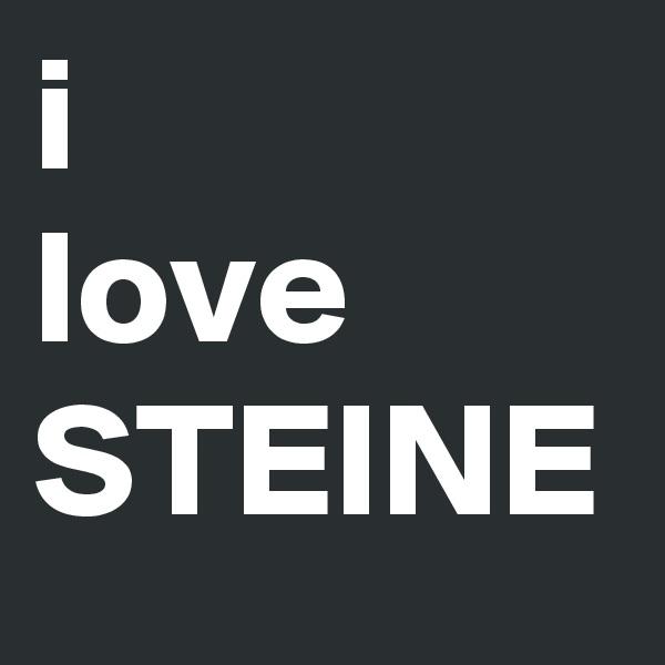 i  love STEINE