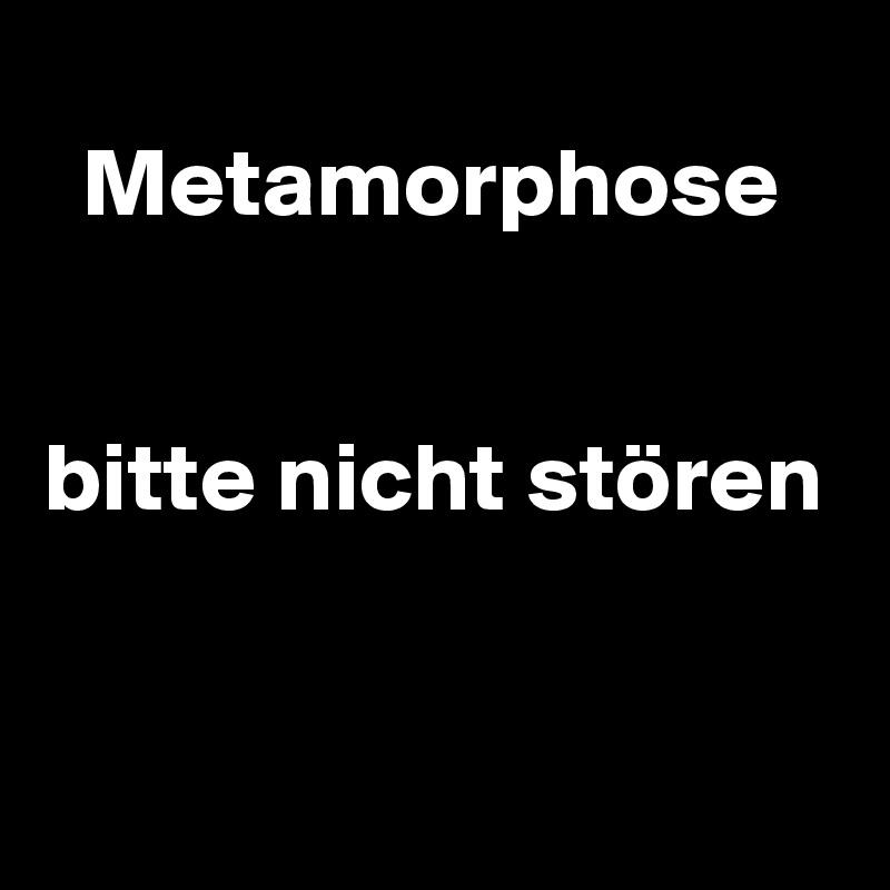 Metamorphose       bitte nicht stören