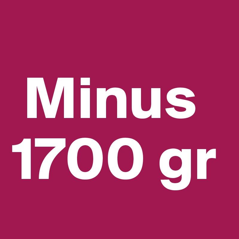 Minus 1700 gr