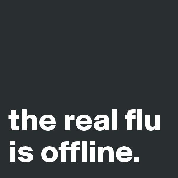 the real flu is offline.