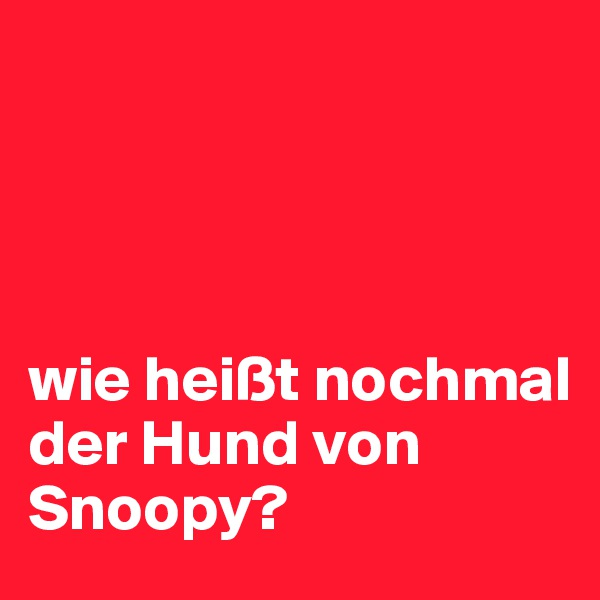 wie heißt nochmal der Hund von Snoopy?