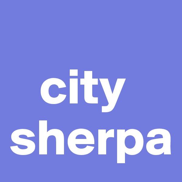 city sherpa