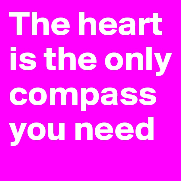 The heart is the only compass you need