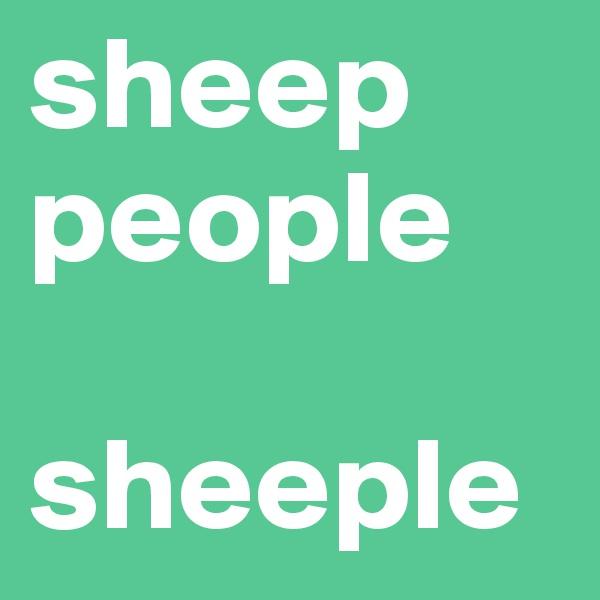sheep people  sheeple