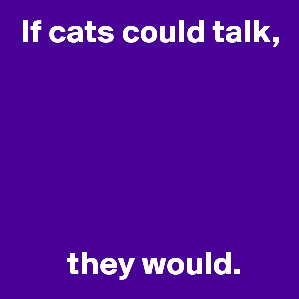 If cats could talk,               they would.