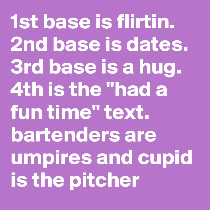 1st 2nd 3rd 4th base