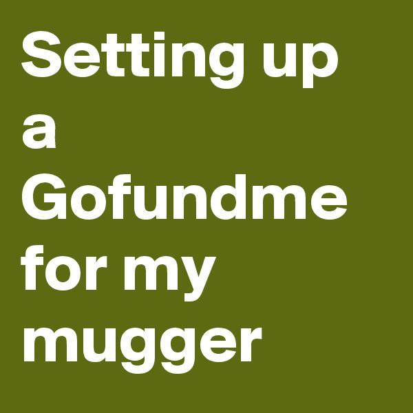 Setting up a Gofundme for my mugger