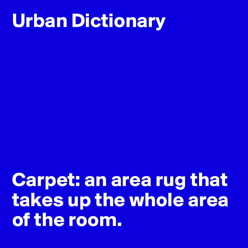 Urban Dictionary Carpet An Area Rug That Takes Up The Whole Of Room
