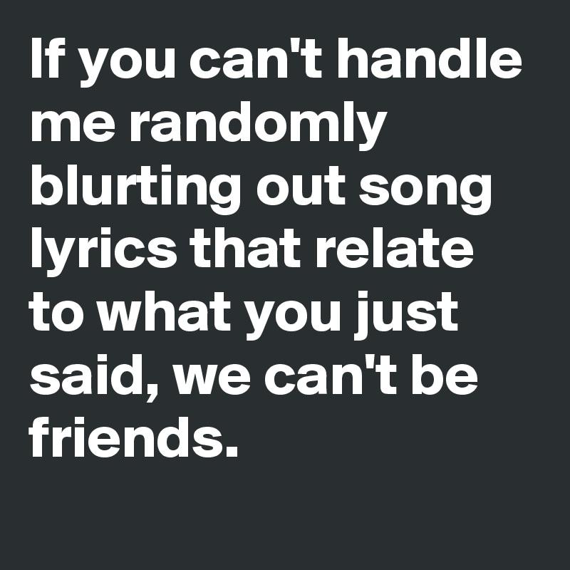 Are we hookup or just friends lyrics