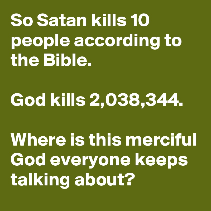 a discussion of who god is according to the bible What does the bible say about what does the bible say about curses is it god's will when a small 25 person read an answer or article shared from ebible.