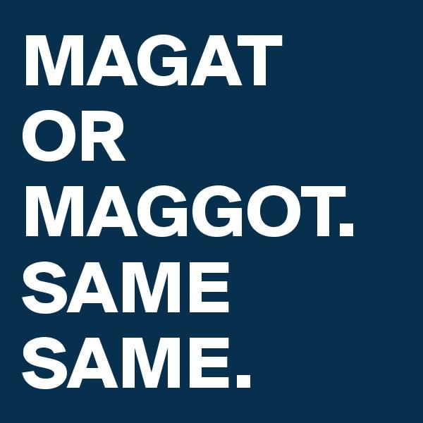 MAGAT OR MAGGOT. SAME SAME.