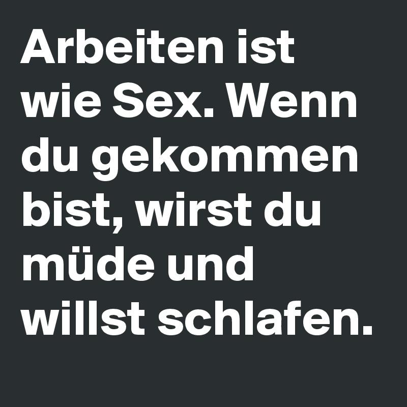 zu müde zum sex